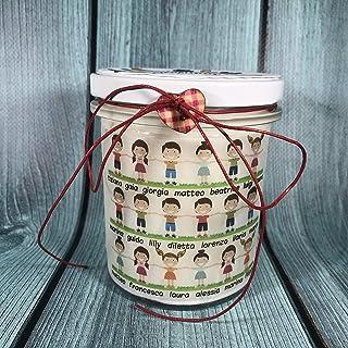 Candela regalo per la Maestra da parte della classe con i nomi degli alunni e della maestra regalo per la maestra fine ann...