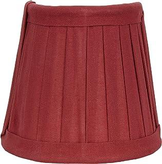 Better & Best Pantalla de lámpara de algodón, con pinza de sujeción para bombillas tipo vela, con forma de media luna, tabla estrecha, de 12 x 6,50 x 10 cm, color fresa