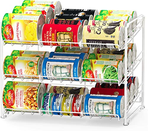 new arrival SimpleHouseware online sale Stackable Can lowest Rack Organizer, White sale