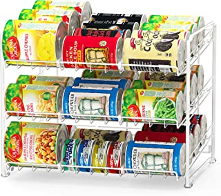 SimpleHouseware Stackable Can Rack Organizer, White