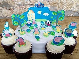 comprar comparacion Toppershack 24 x decoración para pasteles comestibles PRECORTADAS de Peppa Pig