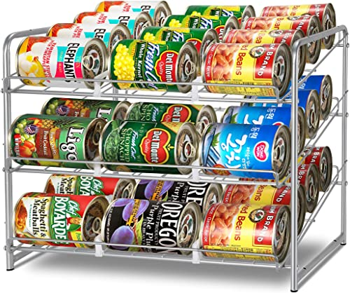 Simple Trending Can Rack Organizer, Stackable Can Storage Dispenser Holds up to 36 Cans for Kitchen Cabinet or Pantry...