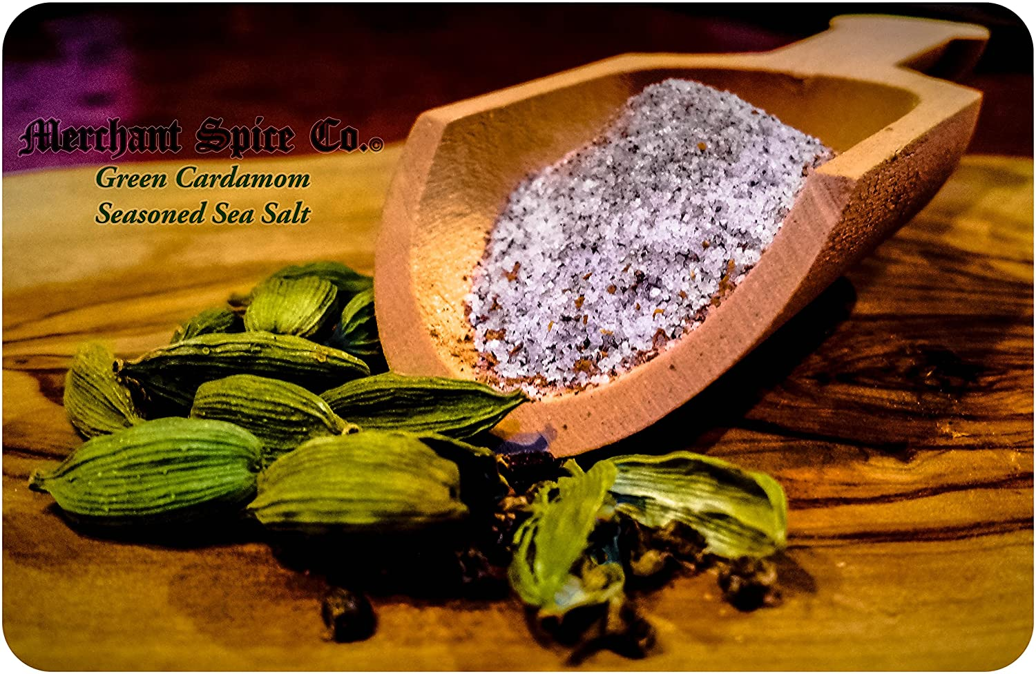 Green Cardamom Salt from the Seasoned Sea Salts Collection by Me