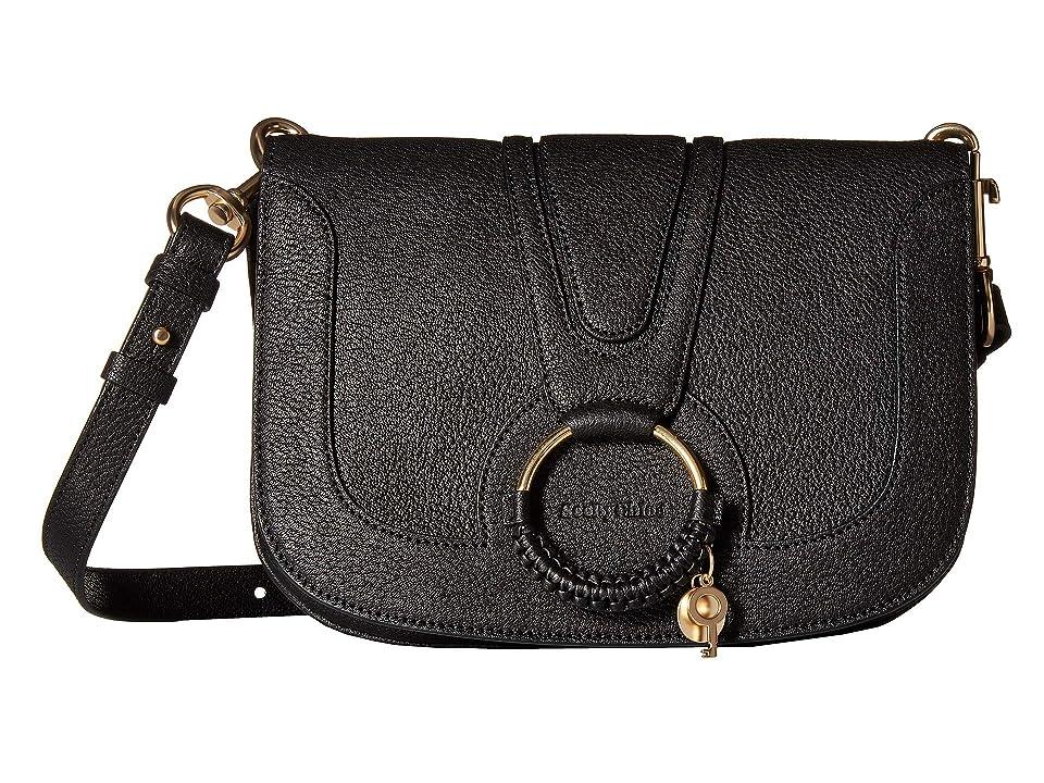 See by Chloe Hana Large Leather Crossbody (Black) Cross Body Handbags