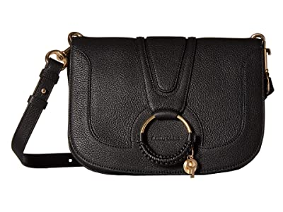 See by Chloe Hana Large Leather Crossbody (Black) Cross Body Handbags