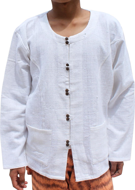 RaanPahMuang Long Dragon Print Smart Shirt Mens Fibre Sleev Detroit Mall OFFicial mail order