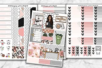 Coffee Bar, 8 sheets planner sticker kit on matte sticker paper. Choose your planner size from Erin Condren to Happy Planner.