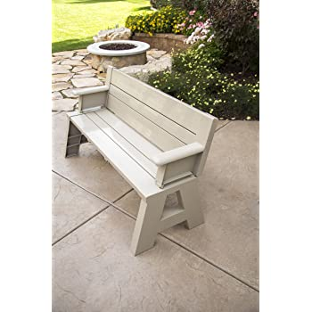 """Premiere Products 5RCATA Tan Convert A Bench, Approximate Size: Table 27"""" H x 14"""" D 31"""" H x 58"""" L Seat 17"""" H x 14"""" D Weighs 38 lbs"""