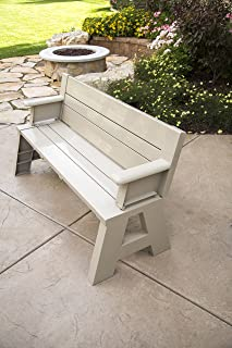 Premiere Products 5RCATA1 Outdoor Bench, Tan, 31.5