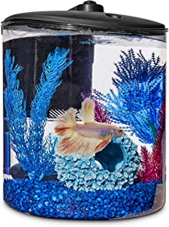 Imagitarium Cylindrical Betta Fish Desktop Tank Kit, 1.6 gal.