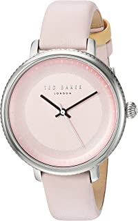 Ted Baker Women's ISLA Stainless Steel Japanese-Quartz Watch with Leather Strap, Pink, 14 (Model: 10031533)