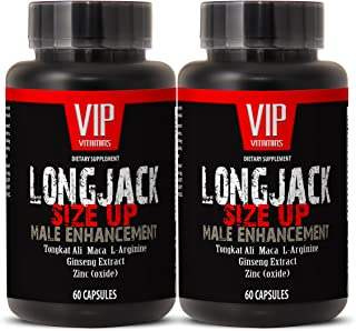 Longjack Size Up 2170mg - Male Enhancement with Maca, Tongkat Ali, L-Arginine, Ginseng - Natural Testosterone Booster - Pr...