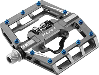 Funn Mamba Mountain Bike Clipless Pedal Set - Single Side Clip Wide Platform MTB Pedals, SPD Compatible, 9/16-inch CrMo Axle