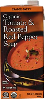 Trader Joe's Organic Tomato & Roasted Red Pepper Soup - 3 Pack