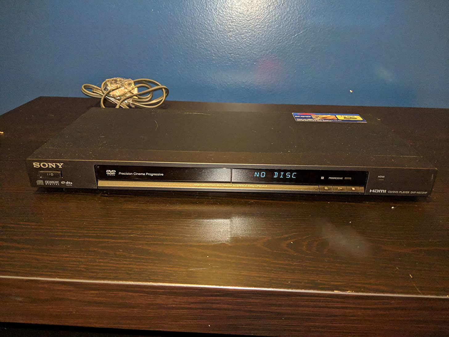 Sony DVP-NS72HP Single Disc Upscaling DVD Player - Black Finish