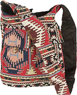 Tribe Azure Hobo Oversize Shoulder Bag Messenger Crossbody Aztec Purse Travel Shopping Beach Market Casual