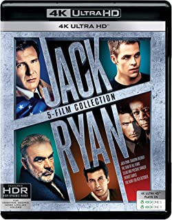 Jack Ryan 5 Movies Collection - Jack Ryan: Shadow Recruit + The Sum of all Fears + Clear and Present Danger + Patriot Game...
