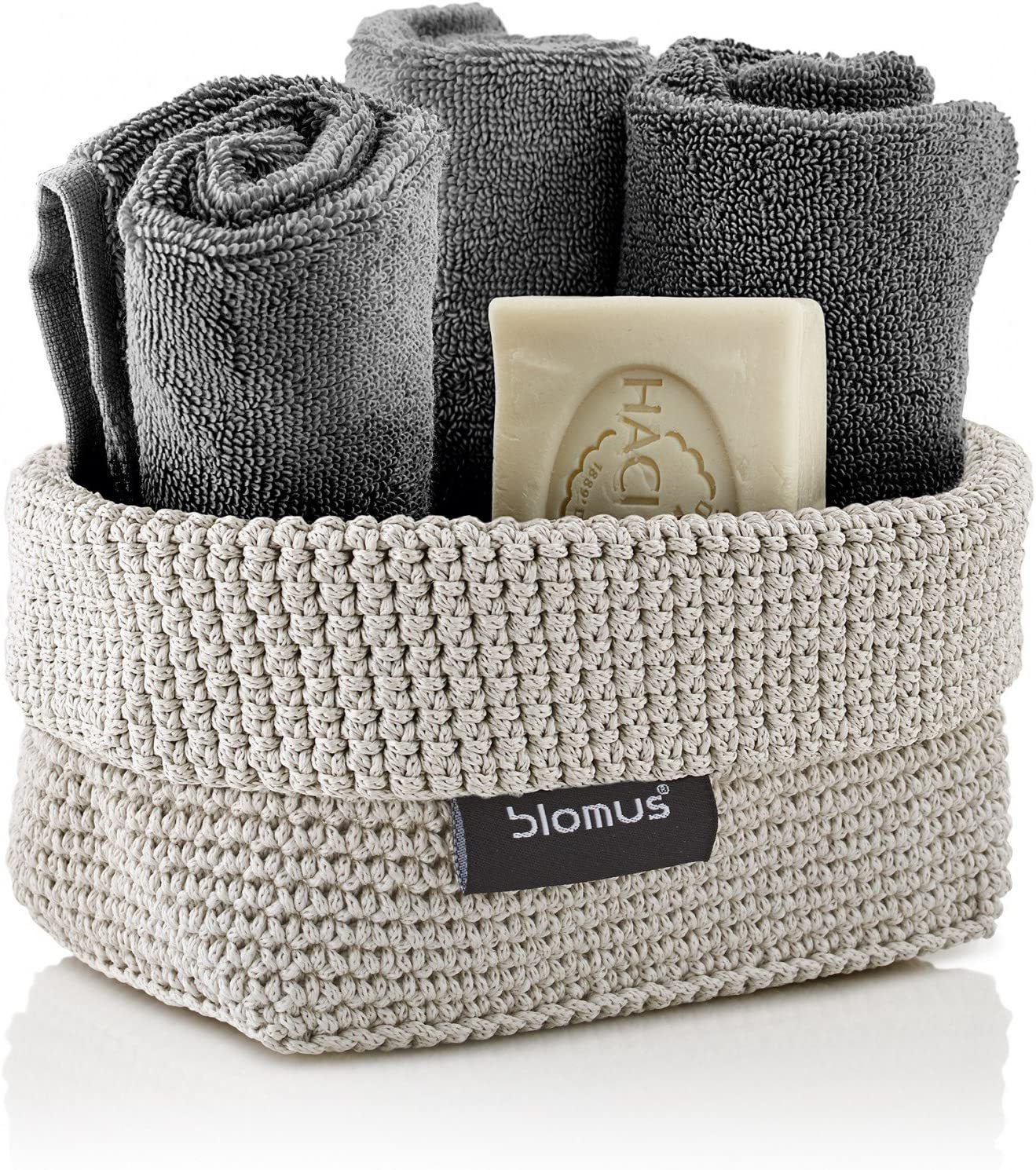 Beauty products Blomus Crochet Basket 68883 Max 67% OFF M Sand