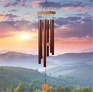 Best WIND CHIMES FOR PEOPLE WHO LIKE THEIR NEIGHBORS, Soothing Melodic Tones & Solidly Constructed Bamboo/Aluminum Chime, Great as a Quality Gift or to keep for Your own Patio, Porch, Garden, or Backyard. Review