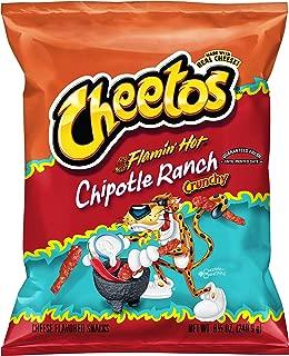 Cheetos Crunchy Flamin' Hot Chipotle Ranch Flavored Cheese Snacks, 8.5 oz Bag