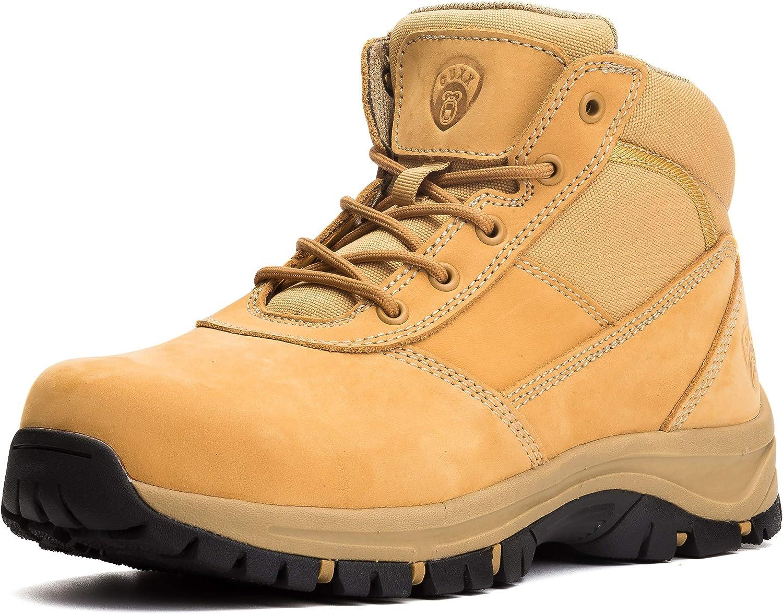OUXX Mens Max 42% OFF Work Boots YKK Zipper Slip-Resistant Toe Steel 55% OFF Rubbe