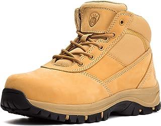 Mens Work Boots, YKK Zipper, Steel Toe Slip-Resistant...