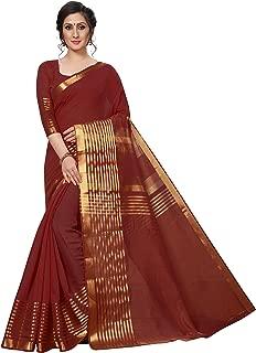 Rensila Fab Women's Cotton Silk Saree (RLA_ALIAA MAROON_S_Maroon_Free Size)