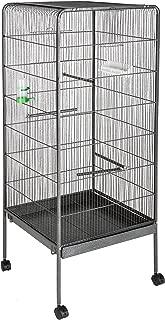TecTake 800449 Jaula para Pájaros, Pajarera XXL con Ruedas, para Aves Canarios Periquitos - Varios Modelos (sin Techo | No. 401004)