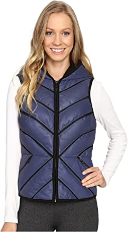 Mesh Inset Puffer Vest Reflective