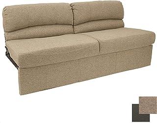 "RecPro Charles RV 62"" Jackknife Sofa | Love Seat | Sleeper Sofa | RV Furniture | RV Couches | Cloth (Oatmeal)"