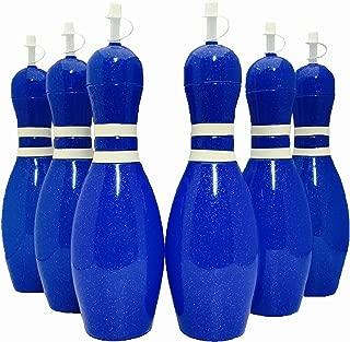 Large Bowling Pin Water Bottles Blue - 6 Pack