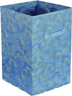Kuber Industries Leheriya Print Fabric Foldable Laundry Organiser ,60Ltr(Blue)-KUBMART16449