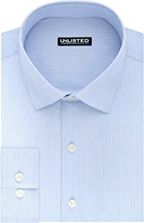 Unlisted by Kenneth Cole Men's Dress Shirt Slim Fit Stripe