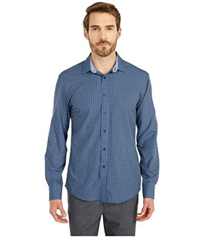 Vince Camuto Dobby Dot Sports Shirt (Navy Print) Men