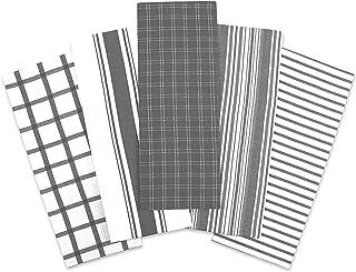 Trade Fountain Tea Towels - 46 X 71 cm Tea Towel Pack of 5 - Durable & Super Absorbent Dish Cloths - Stylish Design Dish C...