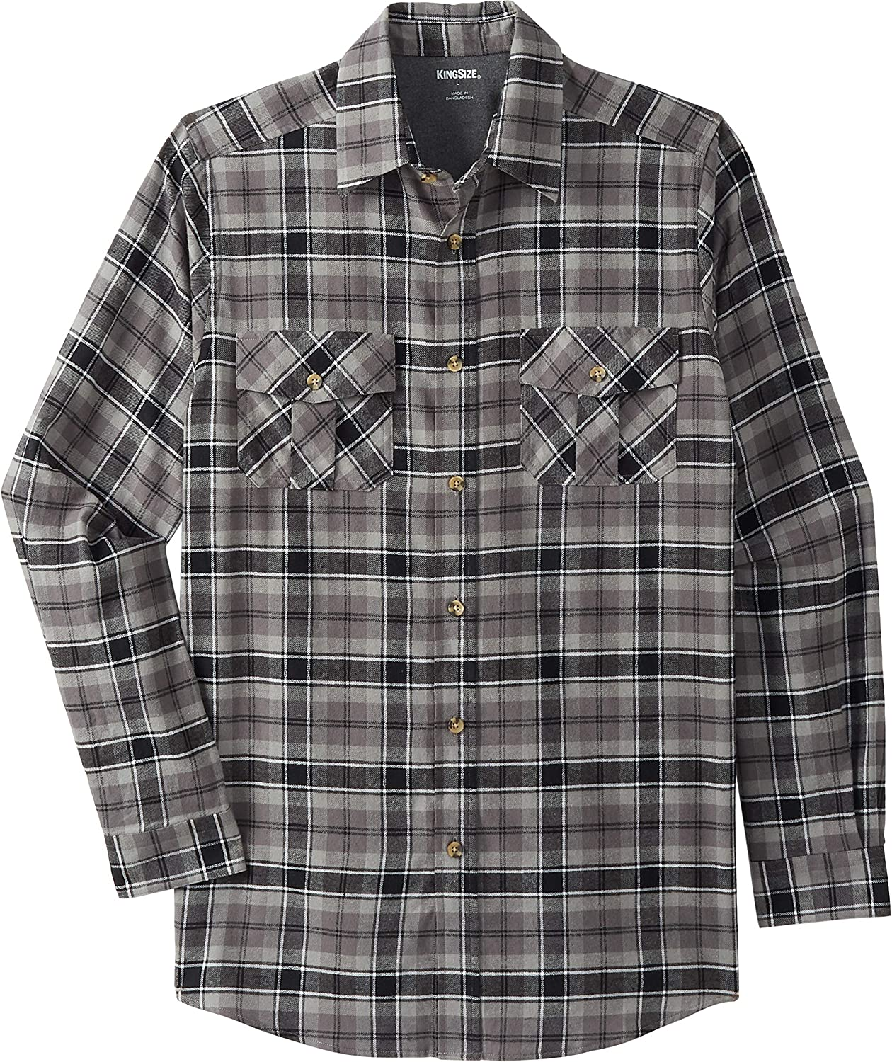 KingSize Men's Big Tall Lowest price challenge Plaid Shirt Flannel Max 65% OFF