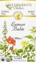 Celebration Herbals Organic Lemon Balm Tea Bags, 24 Count