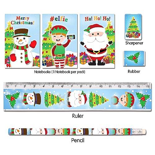 1//6//12//24//36 Kids 5 Piece Stationery Set Party Bag Filler Ruler Notepad Unicorn