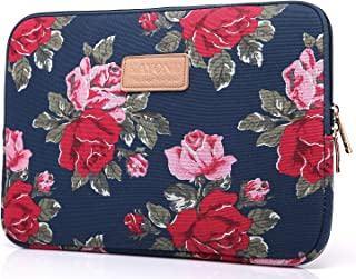 KAYOND KY-41 Canvas Fabric Sleeve for 15.6-inch Laptops - Peony Patterns (15.6, Bule Peony)