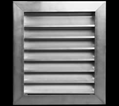 """Sponsored Ad - 16""""w X 16""""h Aluminum Outdoor Weather Proof Louver - Rain & Waterproof Air Vent with Screen Mesh - HVAC Gril..."""