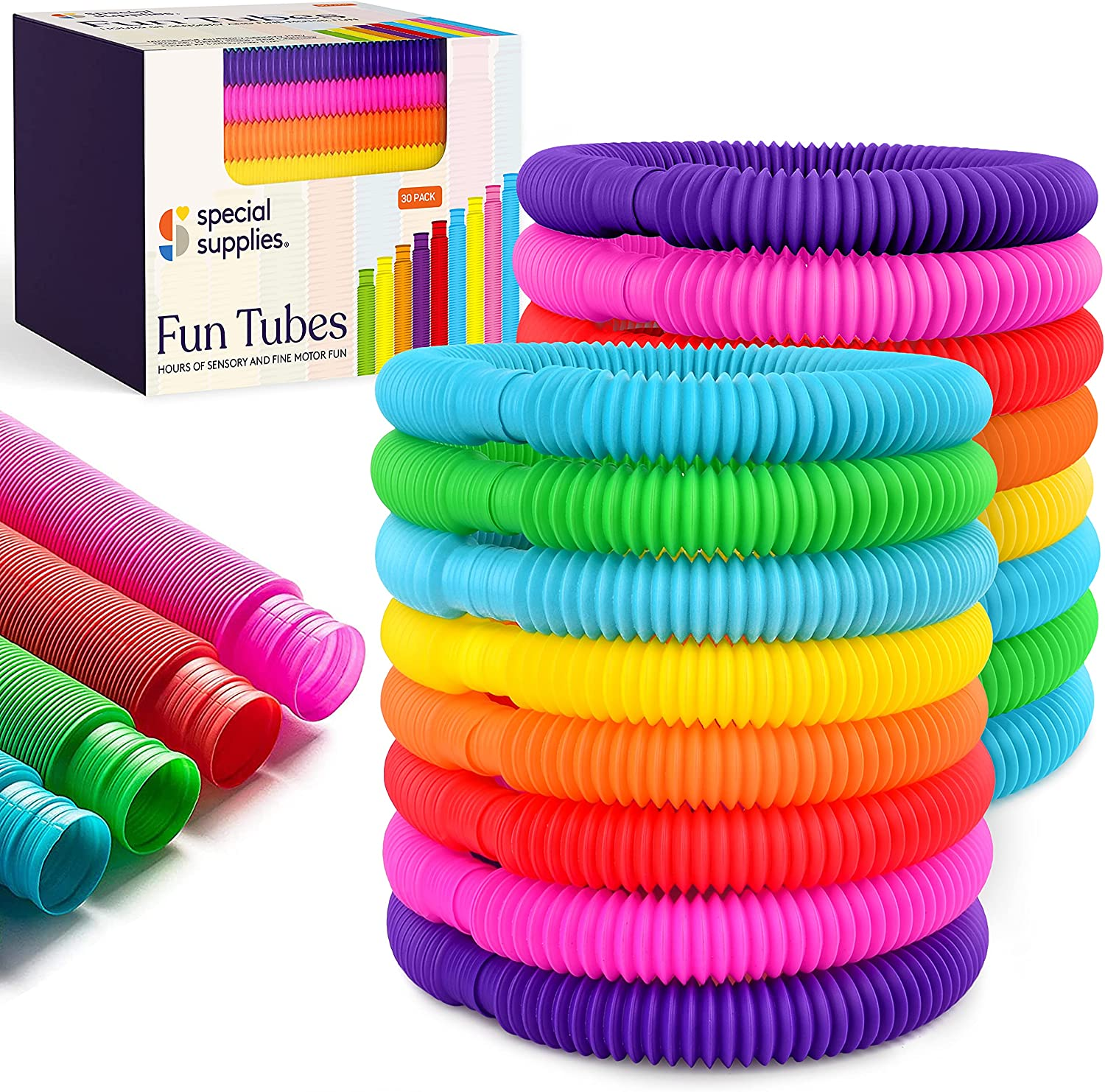 Special Supplies 30-Pack Fun Pull Selling rankings and Sale item for - P Kids Tubes Stretch