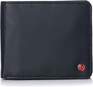 Alpine Swiss Men's RFID Protected Max Coin Pocket Bifold Wallet With Divided Bill Section Camden Collection