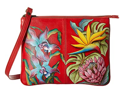 Anuschka Handbags 570 Triple Compartment Crossbody (Island Escape) Handbags