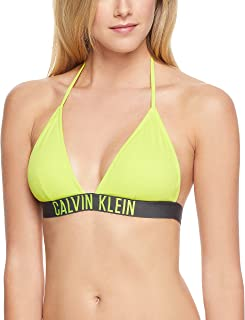 CALVIN KLEIN Women's Intense Power Triangle Bikini Top Swimwear