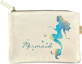 Me Plus Eco Zipper Pouch Stylish Printed, Traveler Organizer, Cosmetic Small Makeup, Students BTS Organization Bag - 22 Pattern options (Mermaid)