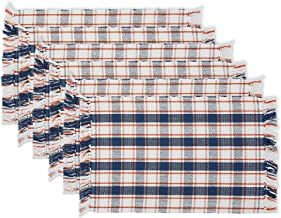 DII Plaid Tabletoppers Fall Patterned Kitchen Linens, Placemat S/6, Autumn Farmhouse