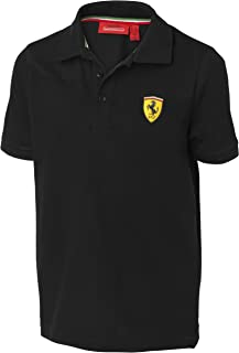 Ferrari Black Size-140 Kids' Polo Shirt