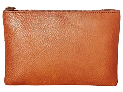 Madewell The Leather Pouch Clutch (English Saddle) Handbags