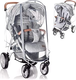 Zamboo universal buggy regnskydd med låsbart fönster - regnskydd barnvagn med dubbel dragkedja för att öppna - transparen...
