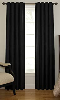 Beautyrest 11239042X063BK Chenille 42-Inch by 63-Inch Rod Pocket Single Window Curtain Panel, Black